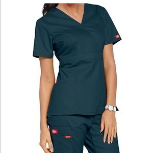 Dickies Mock Wrap Scrub Top